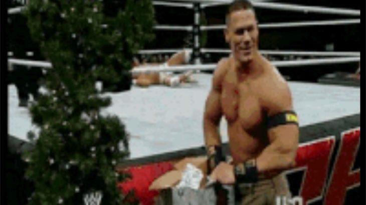 【GIF動画】サンタからのプレゼントは大人でも嬉しい : レスラーの場合