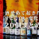 酒やめたい?断酒(禁酒)期間1ヶ月で起きたスゴイ良い変化20個まとめ